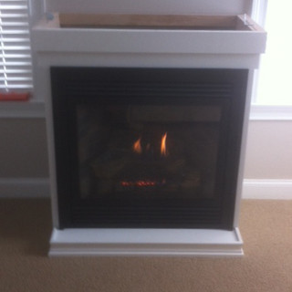 Custom gas fireplace