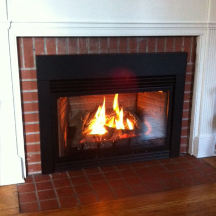 custom gas fireplace insert