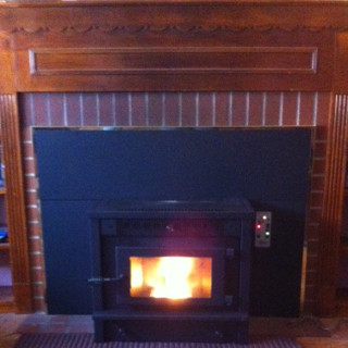 Pellet Stove Fireplace.