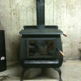 Basement wood stove Connecticut.